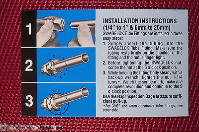 Hy-Lok® 1/2 Tube OD x 3/8 NPT Pipe FEMALE STRAIGHT CONNECTOR 316 Stainless Steel