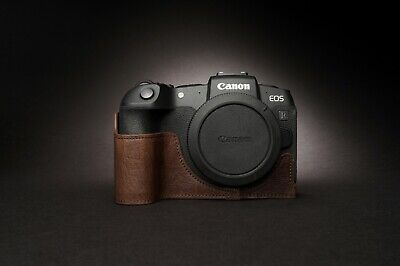 Genuine Real Leather Half Camera Case Bag Cover for Canon EOS RP 3