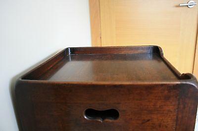 ANTIQUE Scottish Victorian Bedside Table 9