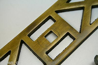 """Brass Pull for Furniture Dresser CHEST OF DRAWERS Geometric Pattern 8.125"""" wide 6"""