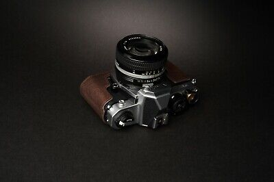 Genuine Real Leather Half Camera Case Bag Cover for Nikon FM2 FM FM2n FE FE2 10