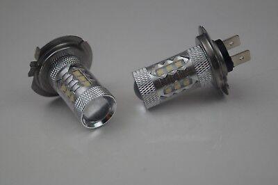 2 x H7 CREE 16 LED HEADLIGHT BULBS FOG LIGHTS BEST QUALITY PEUGEOT 206 CC 2001