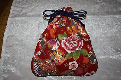 Kinchak Schöne Tragetasche in Kimono Beutel Stil  Made in Japan süßes Muster rar 6