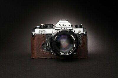 Genuine Real Leather Half Camera Case Bag Cover for Nikon FM2 FM FM2n FE FE2 3