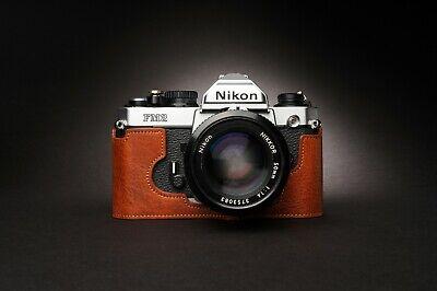Genuine Real Leather Half Camera Case Bag Cover for Nikon FM2 FM FM2n FE FE2 2