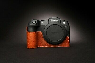 Genuine Real Leather Half Camera Case Bag Cover for Canon EOS RP 2
