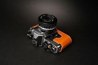 Genuine Real Leather Half Camera Case Bag Cover for Nikon FM2 FM FM2n FE FE2 9
