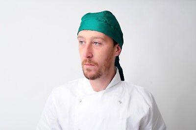 chef bandana ties and back protector head band Restaurant Work Wear Hat zandana 10