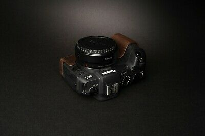 Genuine Real Leather Half Camera Case Bag Cover for Canon EOS RP 8