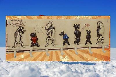 Garderobe Gusseisen Toilette 7 Hunde Flur Küche Garten Vintage Ästhetik Geschenk 2