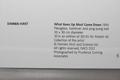 """DAMIEN HIRST /""""What Goes Up/"""" limitierte Kunst-Postkarte Ausstellung"""