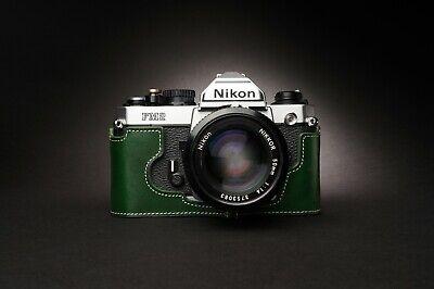 Genuine Real Leather Half Camera Case Bag Cover for Nikon FM2 FM FM2n FE FE2 5