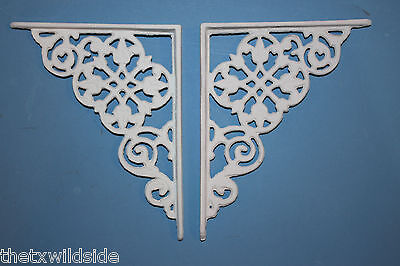 (2),dutch Decor,antique Look,corbels, Shelf Brackets, Country Decor,white, B-30 6