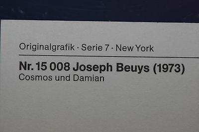 """hochwertige Kunstpostkarte JOSEPH BEUYS:/""""Neues vom Gold/"""" Originalgrafik"""