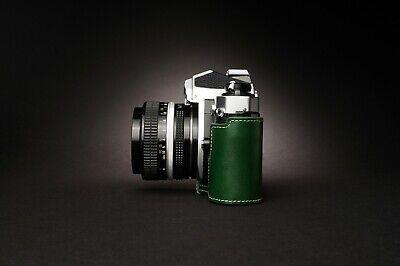 Genuine Real Leather Half Camera Case Bag Cover for Nikon FM2 FM FM2n FE FE2 7