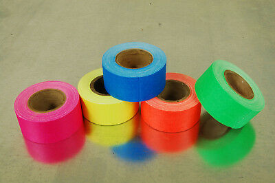 1 Inch UV Blacklight Reactive Fluorescen​t Gaffer Tape 1 Roll x 6 Yards