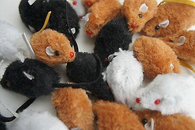 Bargain Pack Catnip Cat Kitten Toys 25 X Rattle Small Faux Fur Catnip Mice