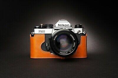 Genuine Real Leather Half Camera Case Bag Cover for Nikon FM2 FM FM2n FE FE2 4
