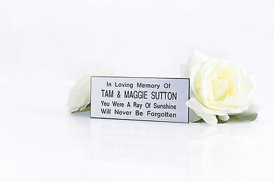 Personalised Engraved memorial Bench plaque sign 3