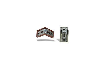 50x Universal Winkel Eck Korpus Verbinder klein platte Möbel Montage & Abdeckung