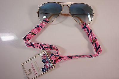 14674680da ... LILLY PULITZER Sunglasses Strap CUTE AS SHELL Sea Cotton Sunglass NEW 2