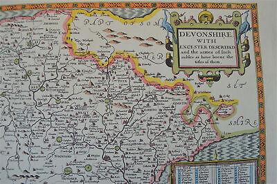 Vintage decorative sheet map of Leicestershire Leicester John Speede 1610