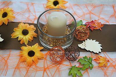 Sonnenblumen Bluten Tischdeko Streublumen Tischdeko Hell Grun Braun