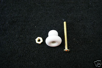 Porcelain Knob With Brass Plated Screw Cabinet Drawer 2