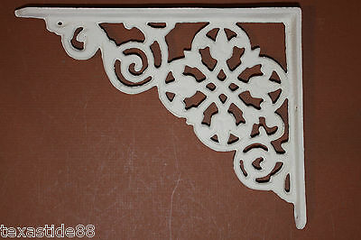 (2) Christmas Gift For Her, Diy Shelving Brackets, Cast Iron,flower Design, B-30 2