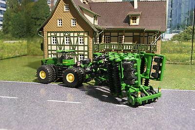 Spielzeug-Landwirtschaft John Deere 9630 Mit Amazon Siku Amazone Tractor Centaur 187 1856 Cultivator