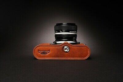Genuine Real Leather Half Camera Case Bag Cover for Nikon FM2 FM FM2n FE FE2 8