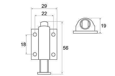 4х Doppel Schnapper Schubschnapper Möbelschnapper Magnetschnäpper Druckschnäpper