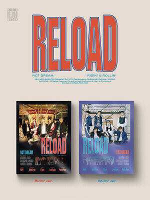NCT DREAM RELOAD 4th Mini Album CD+POSTER+Book+F.Poster(On)+2Card+GIFT 5