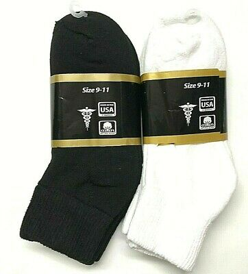 3 /6 /12 / Pair Non-Binding Top DIABETIC Colors Ankle Sock Size10-13 & 9-11 USA 5