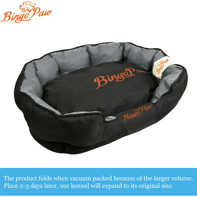 XXL Extra Large Jumbo Orthopedic Pet Dog Bed Dog Kennel Basket Pillow Waterproof 6