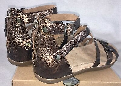 6598cf9a930 2 of 12 UGG WOMEN S CHERIE GOLD Metallic PONY BROWN LEATHER GLADIATOR  SANDALS 1009851
