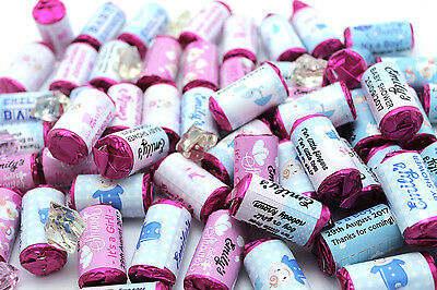 Personalised Baby Shower Love Hearts Party Favours Boy Girl Keepsake 2