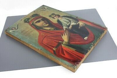 Antique Icon Mother of God Surety of Sinners Споручница грешных Orthodox Russian 9