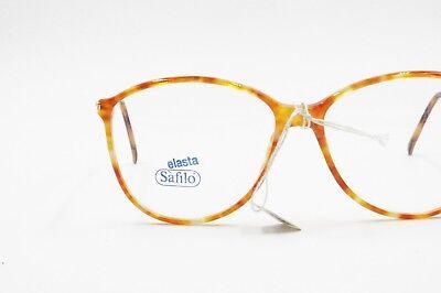 1980s SAFILO Linea 5611 blode orange dappled acetate and metal , Deadstock