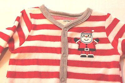 da270acf54e9 CARTER S INFANT BABY Boy 3 Months Christmas Santa Claus Striped ...