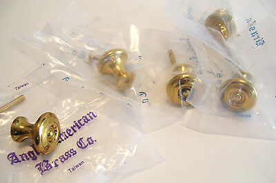 5 Reproduction Brass Drawer Knobs ! Inch Cabinet Cupboard 5