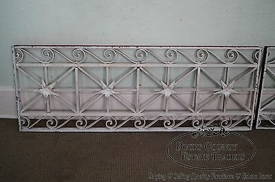 Antique Pair of Hand Wrought Iron Regency Style Wall Grates (B) 3