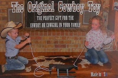 The Original Cowboy Toy Team Roping Toy Red White Blue New