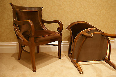 2 Armchairs/Dining Chairs Carved Solid Mahogany? Wood 5