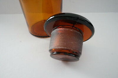 Altes Apothekerglas-Flasche-Glas-braun-14 cm-250 ml 2