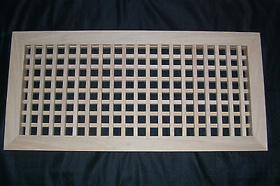Made To Your Size Large Wood Floor Grate  Wall Register Floor Vent 6