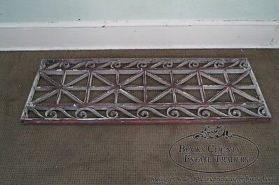 Antique Pair of Hand Wrought Iron Regency Style Wall Grates (B) 11
