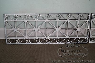 Antique Pair of Hand Wrought Iron Regency Style Wall Grates 3