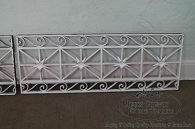 Antique Pair of Hand Wrought Iron Regency Style Wall Grates 4