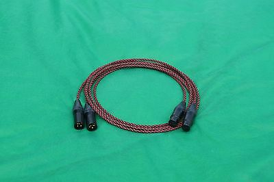 5/' FT PURE SILVER PLATED MIL-SPEC RCA TO BALANCED XLR MALE INTERCONNECT CABLE.